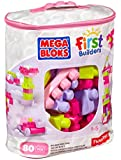 Mega Bloks Big Building Bag (Pink, 80 Pieces)