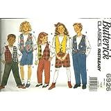 Girls/Boys Vest, Top, Skirt, Shorts & Pants (Butterick Sewing Pattern 6926, Size: 7,8,10) ~ Butterick Fast & Easy...
