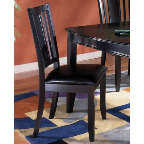 Contemporary Black Upholstered Dining Room Side Chair Set