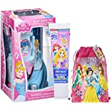 "Disney Princess ""Cinderella"" Inspired 4pc Sparkling Smile Oral Hygiene Gift Set! Includes Toothbrush Holder, Toothbrush, Toothpaste & Rinse Cup! Plus Bonus Princess Resuable Drawstring Tote Gift Bag!"