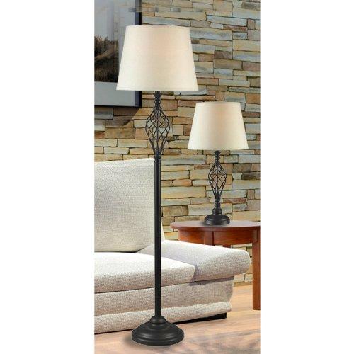Kenroy Home 32190ORB Avett Lamp Set, 3-Pack