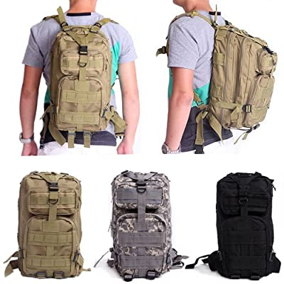 HDE Heavy Duty Lightweight Expandable 20L Outdoor Military Tactical MOLLE Assault Backpack