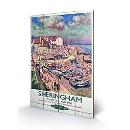 Vintage - Sheringham Cuadro De Madera (60 x 40cm)