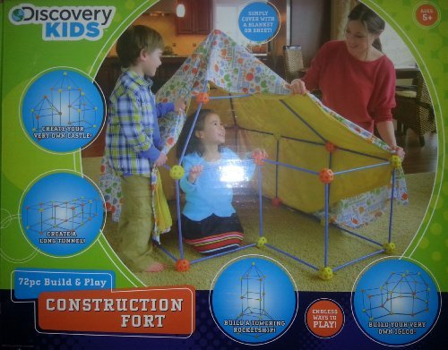 Discovery Kids 72Pc Build & Play Construction Fort front-631073