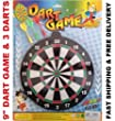 "BRAND NEW! 9"" MAGNETIC DART GAME WITH 3 DARTS, HIGH QUALITY, GREAT FUN FOR KIDS"