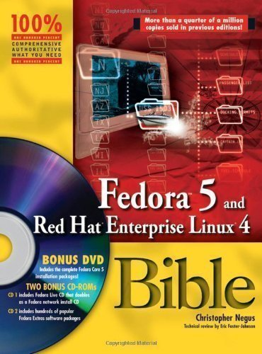 Fedora 5 And Red Hat Enterprise Linux 4 Bible (Bible (Wiley)) By Negus, Christopher Published By John Wiley & Sons (2006)