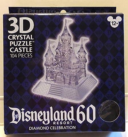 Disneyland 60th Anniversary Diamond Celebration 3D Crystal Puzzle Castle