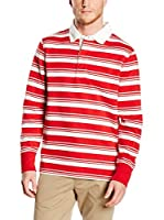 Timberland Polo Tfo Ls Stripe Rugby (Rojo / Blanco)