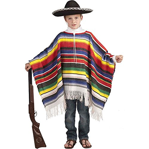 Mexican Poncho Kids Costume - One Size
