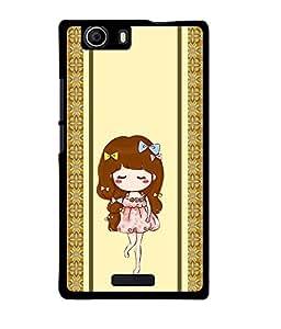 Fuson 2D Printed Girly Designer back case cover for Micromax Canvas Nitro 2 E311 - D4451