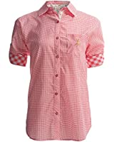Munki Munki Boyfriend Nightshirt - Cotton Poplin, Long Sleeve, RED Gingham