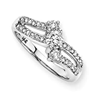 3 Diamond Anniversary Ring 1/2 ct. in 14K White Gold