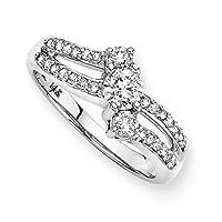 3 Diamond Anniversary Ring 1/2 ct. in 14K White Gold