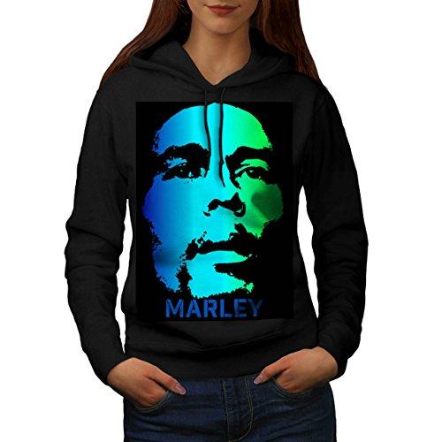 Bob Marley Grave Faccia Verde Da donna Nuovo Nero M Felpa Con Cappuccio | Wellcoda