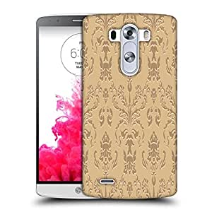 Snoogg Silver Pattern Printed Protective Phone Back Case Cover For LG G3