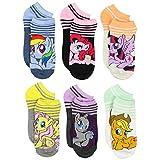 My Little Pony Girls 6 pack Socks (10-13 Womens (Shoe: 6-12), Blue/Multi Queen)