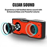 AOMAIS Sport II Portable Wireless Bluetooth Speakers 4.0 with Waterproof IPX7,20W Bass Sound,Stereo Pairing,Durable Design for iPhone /iPod/iPad/Phones/Tablet/Echo dot(Next Generation Orange)
