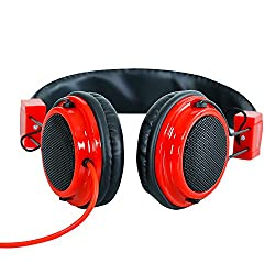 Headphone For Vodafone Smart speed 6 Headphone With Mic Compatible (RED)