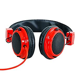 Headphone For Swipe Elite Plus Headphone With Mic Compatible (RED)