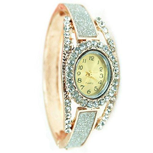 Fashion Women's rose gold silver Analog Quartz Bracelet Watch