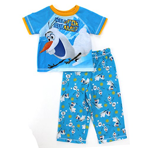 Disney Little Boys' Frozen Olaf Toddler Poly Pajamas Set