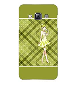 Printdhaba Smiling Girl D-1316 Back Case Cover For Samsung Galaxy A3
