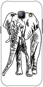 Snoogg sketch of elephant vector illustration Hard Back Case Cover Shield ForSamsung Galaxy J1