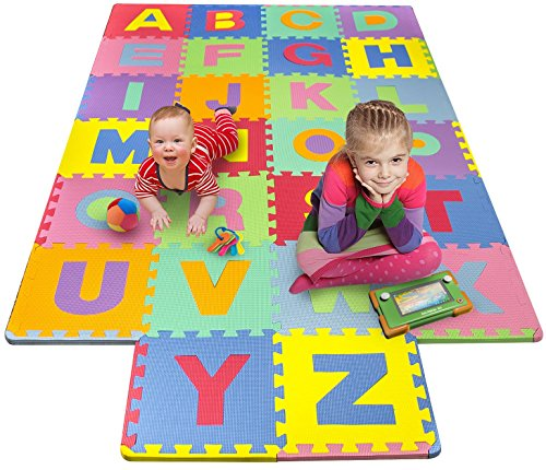 Matney-Foam-Mat-of-Alphabet-Puzzle-Pieces-Great-for-Kids-to-Learn-and-Play-Interlocking-Puzzle-Pieces