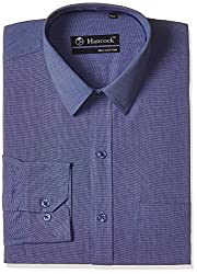 Hancock Men's Formal Shirt (9089Blue_42)