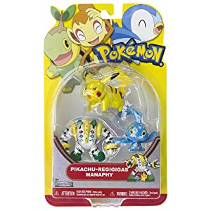 Manaphy, Pikachu, Regigigas: Pokemon Mini-Figure Multi-Pack Series