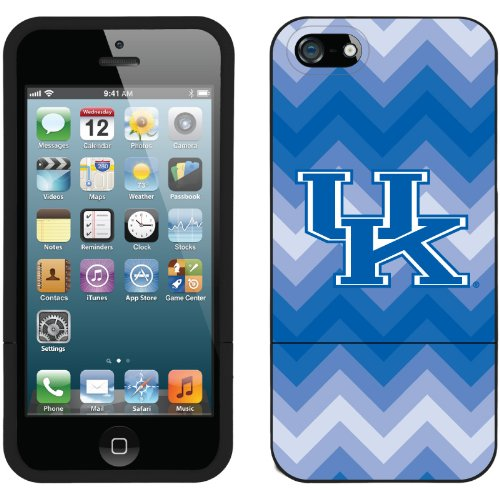 Great Price University of Kentucky - Lined Chevron design on a Black iPhone 5 Slider Case by Coveroo