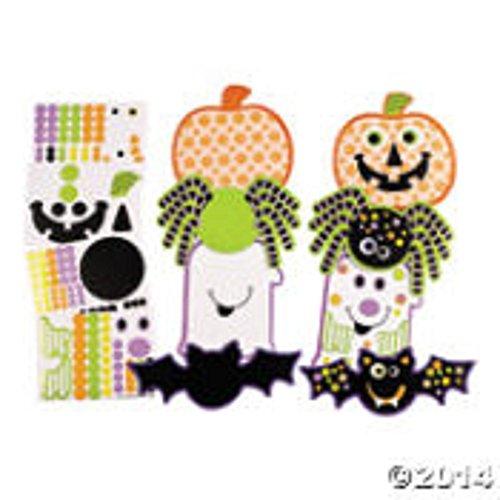 Halloween Die Cuts with Stickers 1 dozen/Halloween/Craft