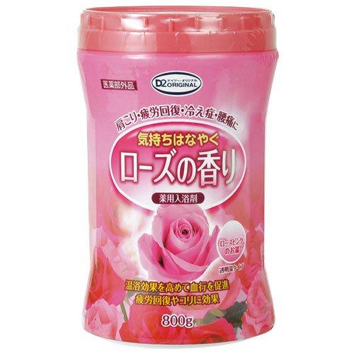 D2オリジナル 薬用入浴剤 ローズの香り 800g