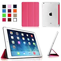 Fintie iPad Air Ultra Slim Lightweight Case with Semi Transparent Hard Shell Support Smart Cover Auto Wake / Sleep for Apple iPad Air (5th Gen) - Magenta/Frost from Fintie