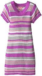 Pink Angel Big Girls' Striped Sweater Dress