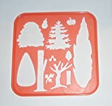 Tupperware Stencil Art Replacement Tree Parts Fruit Theme #2394