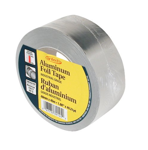 Cantech 39145 Duct Sealing Aluminum Tape, 45m