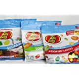 Jelly Belly Sugar Free 3 Packs of Jelly Beans and Gummi Bears