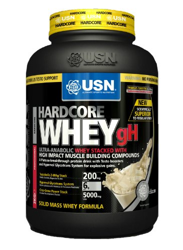 USN Hardcore Whey gH 2000 g Chocolate Muscle Building Whey Protein Shake Powder
