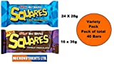 Kellogg's Rice Krispies Squares Totally Chocolatey & Marshmallow Total 40 Bars 1.25Kg