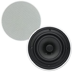 Theater Solutions TSQ670 6.5-Inch Install Quick 70 Volt In Ceiling Speaker, White