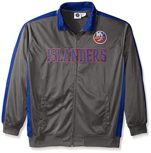 NHL New York Islanders Men's Tricot Track Jacket, 3X, Charcoal (New York Islanders Jacket compare prices)