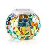 GOSHOPガーデンライト ソーラーLED 高級ガラス製 ソーラーライト おしゃれ 照明 イルミネーションライト 自分用はもちろん、プレゼントにも最適。(多彩)