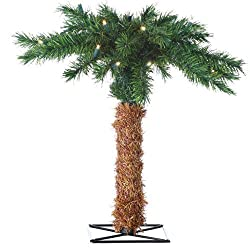 Sterling 5207-15c 15-Inch LED Battery Operated Palm Tree Clear Lights
