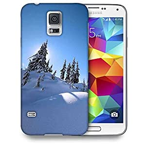 Snoogg Snow On Trees Printed Protective Phone Back Case Cover For Samsung S5 / S IIIII