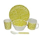 Baby Dining Set Pav Celery Green - Scandinavian Retro Design 5 Pcs