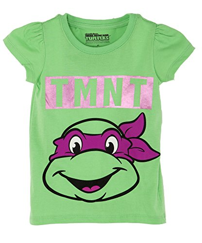 Teenage Mutant Ninja Turtles Little Girls Michelangelo Toddler Tee Shirt