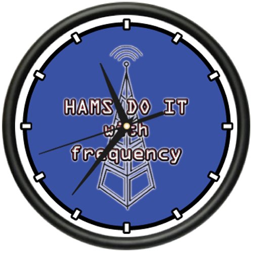 Ham Radio Operator Wall Clock Microphone Qsl Cb Gift