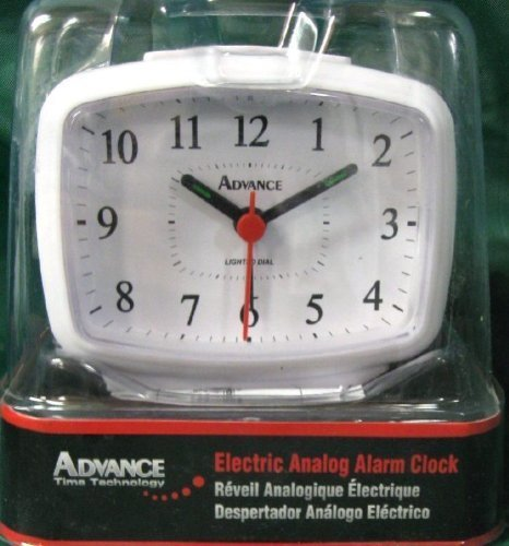 Tna Analog Electric Alarm Clock Snooze Back Lighted Dial Wh