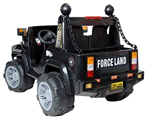 SixBros. Force Land Children´s Electric Ride On Jeep Black - 07-BK/319